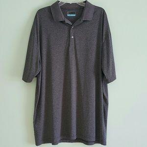PGA Tour Tall Gray Short Sleeve Polo Size 2XLT